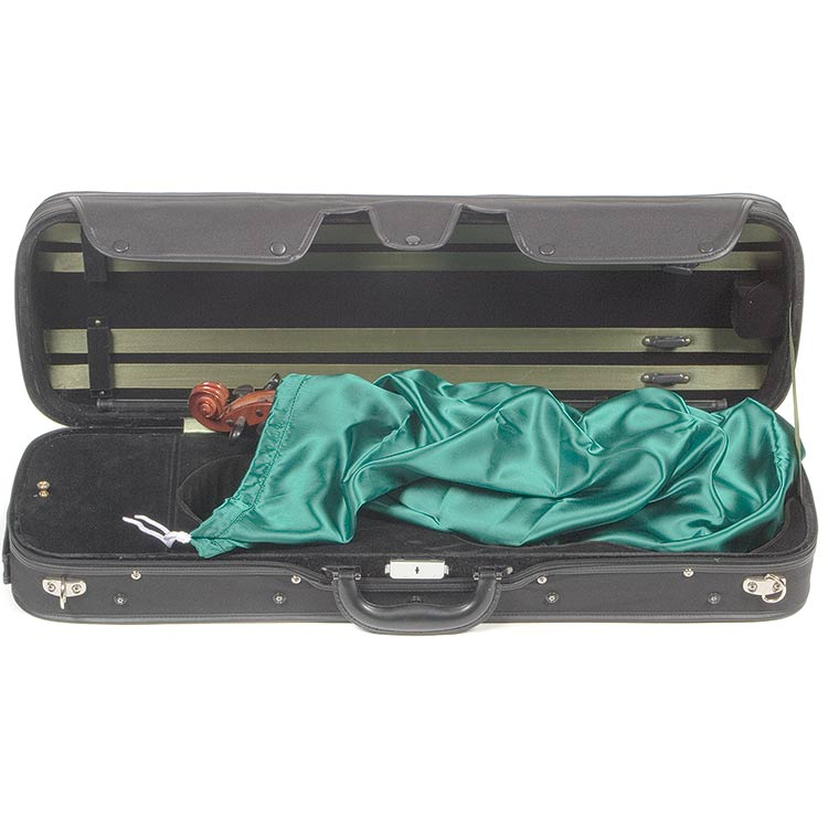 Bobelock Satin Pouch for Violin, Green