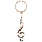 Metal Treble Clef Key Chain with Circle Clip