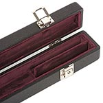 Bobelock Two Bow Case, Vinyl-Covered with Wine Interior