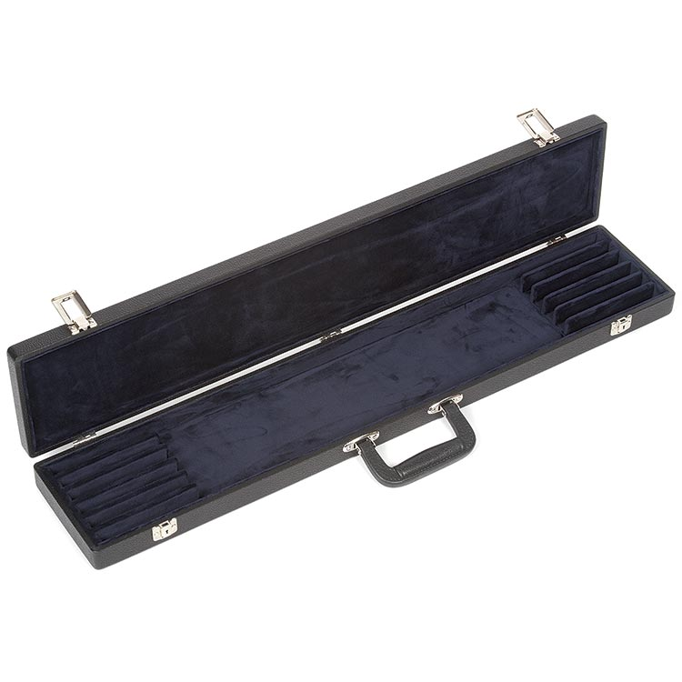Bobelock Six Bow Case, Vinyl-Covered with Blue Interior