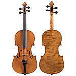 "1/4 German violin labeled ""copy of Antonius Stradivarius..."" , circa 1900"