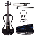 Johnson EV-4s Companion Black Electric Violin Outfit