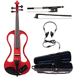 Johnson EV-4s Companion Red Electric Violin Outfit
