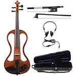 Johnson EV-4s Companion Natural Electric Violin Outfit