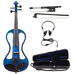 Johnson EV-4s Companion Blue Electric Violin Outfit
