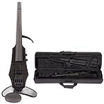 NS Design WAV-4 Electric 4-String Transparent Black Violin with Custom Case