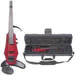 NS Design WAV-4 Electric 4-String Transparent Red Violin with Custom Case