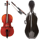 4/4 Jay Haide Montagnana Model Cello Outfit