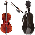 4/4 Jay Haide Stradivari Model Cello Outfit