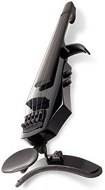 NS Design WAV-5 Electric 5-String Transparent Black Violin with Custom Case