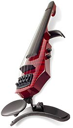 NS Design WAV-5 Electric 5-String Transparent Red Violin with Custom Case
